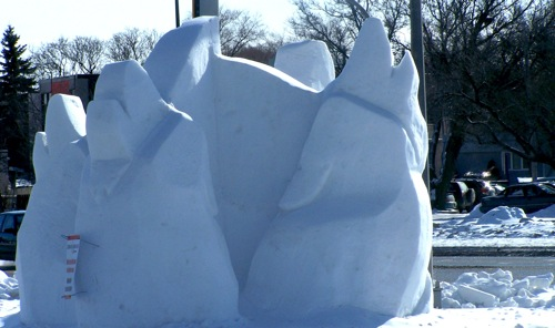 Snow Sculptures - Marion and St. Mary's Rd.