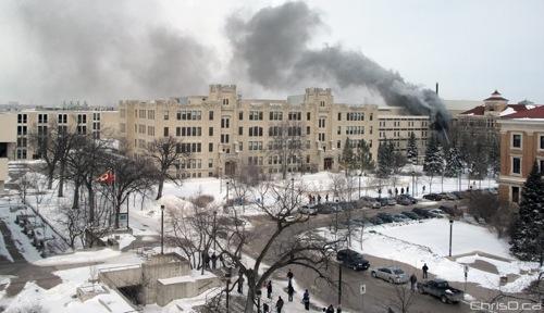 Duff Roblin Building Fire