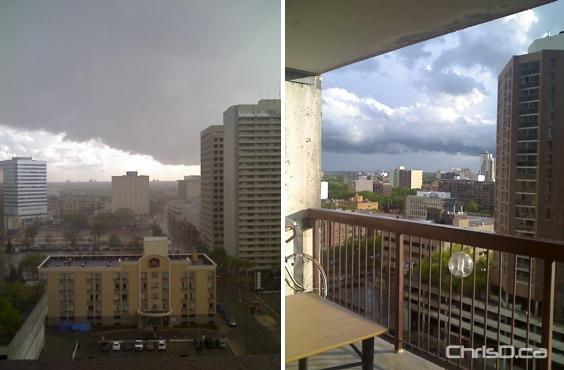 Downtown Winnipeg Storm