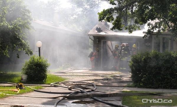 St. Norbert House Fire - Campeau Street