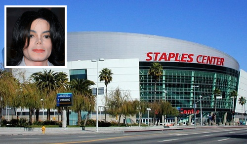 Staples Center - Michael Jackson