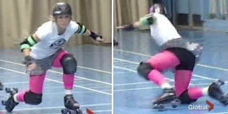 Nicole Dube - Global TV - Roller Derby