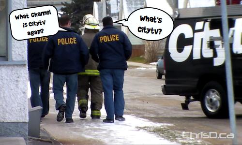 Citytv Live Truck - Winnipeg Police Officers