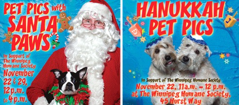 Winnipeg Humane Society Pet Holiday Photos 2009