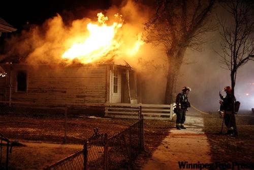 Winnipeg Firefighters Cell Phone Photo