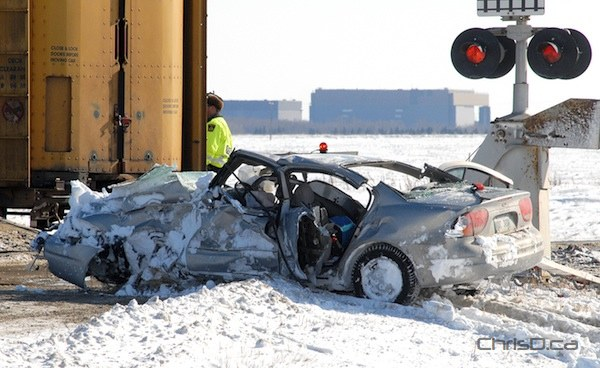 Train Crash Car Collision with Train S...